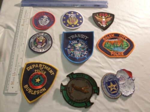 Police Sheriff  Embroidered Patch Collection set lot