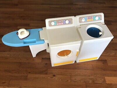 VTG Little Tikes Washer Dryer Ironing Board Laundry Child Size Play Pretend RARE