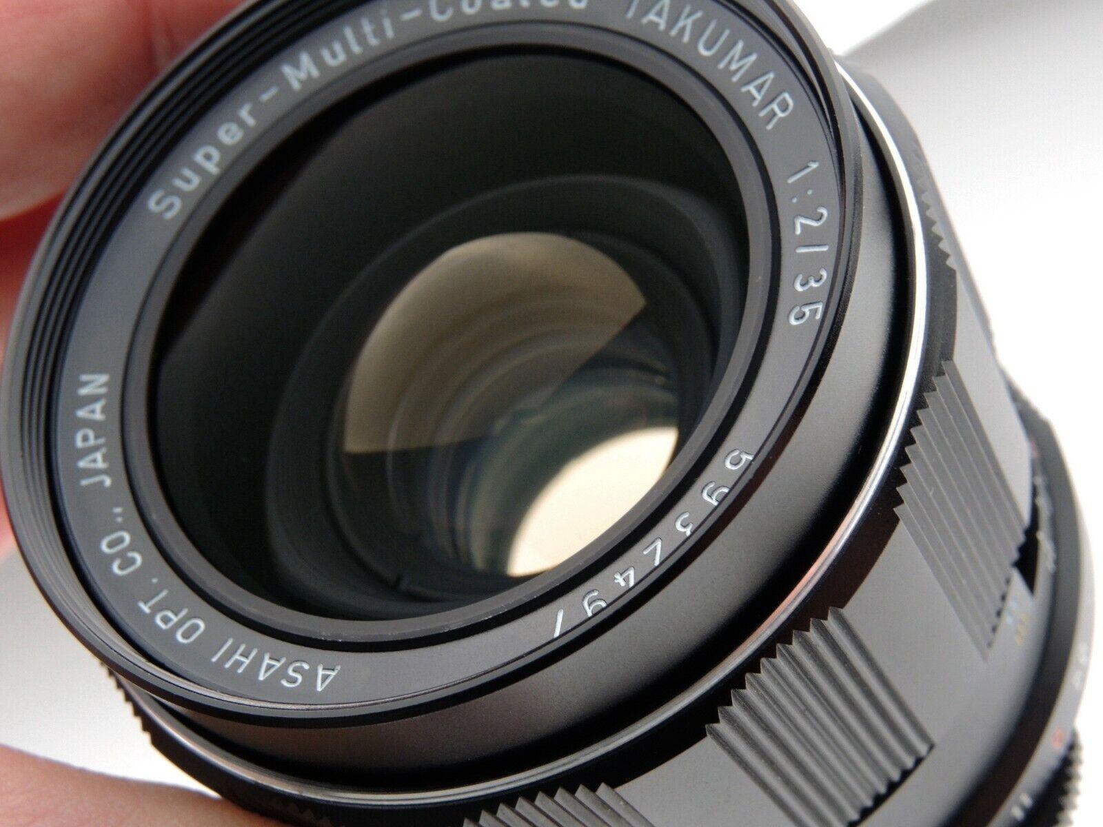 ASAHI PENTAX 35mm F2 SMC SUPER MULTI COATED TAKUMAR LENS NEAR MINT M42 MOUNT - $239.99