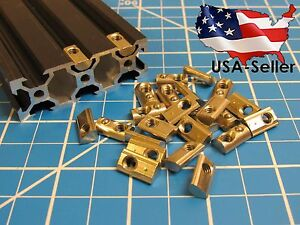(25 pcs) M5 Spring Roll / Drop in T Nut for 2020, 20 Series T Slot Extrusion
