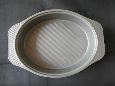 "Oven Roasting Pan Metal Bakeware Non Stick Oval Large Mold Dish 18"" x 14"" x 4"""