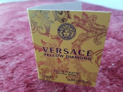WOMENS VERSACE YELLOW DIAMOND EAU DE TOILETTE NATURAL SPRAY 1ML BRAND NEW