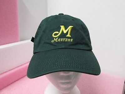 85998ec738d American Needle Masters Golfing Golf Cap Hat Green Yellow 100% Cotton