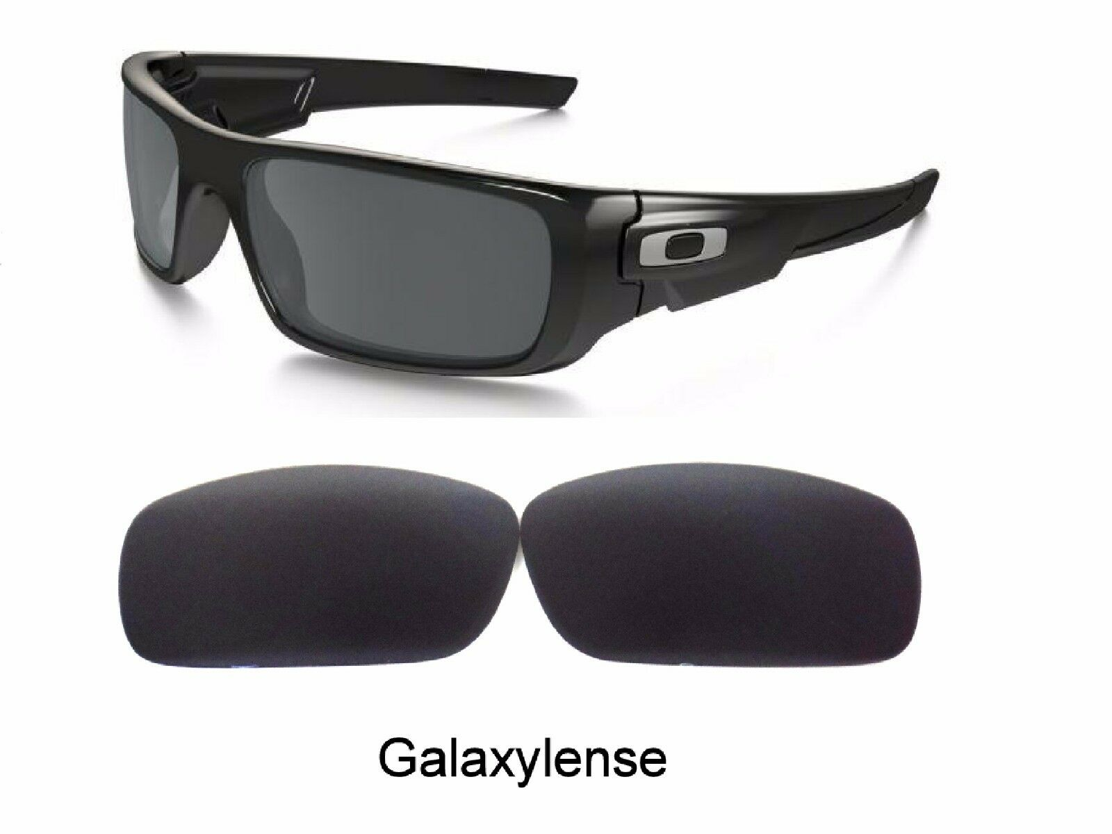 09fda37508b Galaxy Replacement Lenses For Oakley Crankshaft Sunglasses Black Polarized