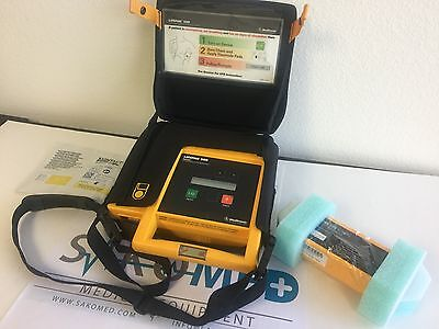 Physio Control Lp500 Biphasic Aed With New Batetry New Pad And Carry Bag