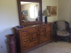 Large Pine dresser ($400) plus mirror $150