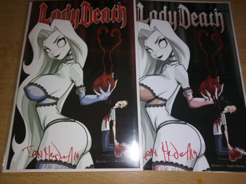 Lady Death Fantasies 1. Heartless Editions. Mendoza Cover Art. 2x Signed.