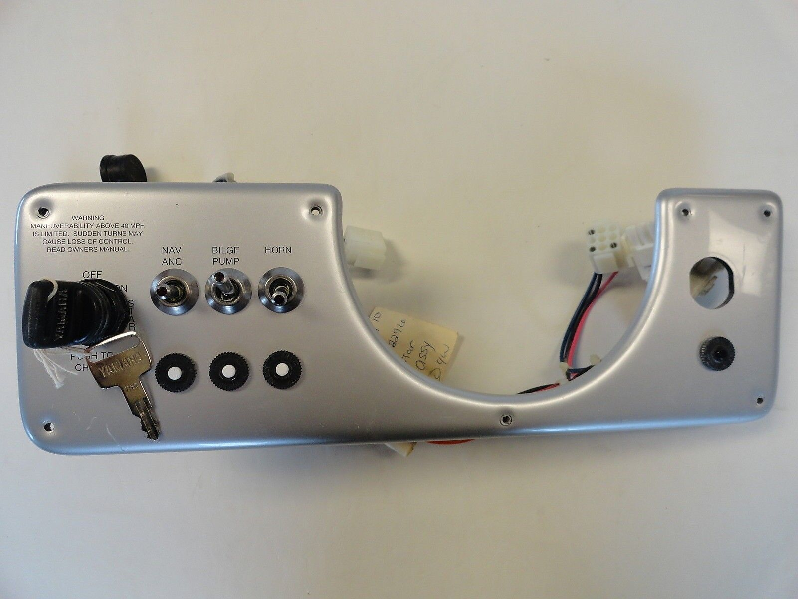 Mastercraft Prostar Tristar Dash Panel Ignition Dash Plate Key Switch Panel,