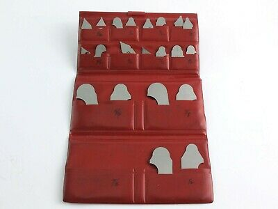 Starrett No. S167c Radius Gage Set Incomplete With Carrying Pouch