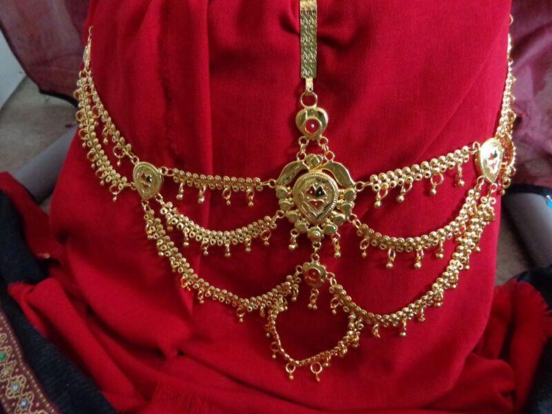 Gold saree half belt Waist Bridal Sari Chain India women Belt kamarband jewelry