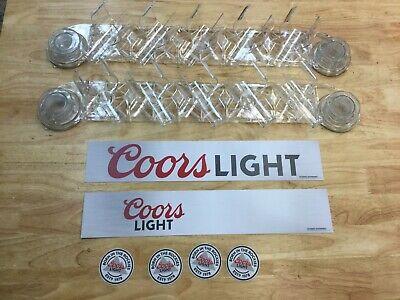 Isee Apex Vault Display Cooler Door Rack Apex-5c-1001-clr Coors Light Set Of 2