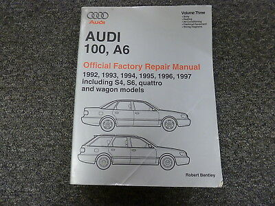 1992-1997 Audi 100 A6 S4 S6 Quattro Wagon HVAC Wiring Body Service Repair Manual