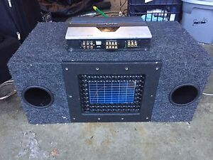 "2 10"" subs with amp and 2 Sony 6x9 speakers"