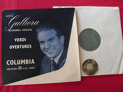 LP Verdi Overtures Alceo Galliera Philharmonia Orchestra 50er Columbia UK   EX