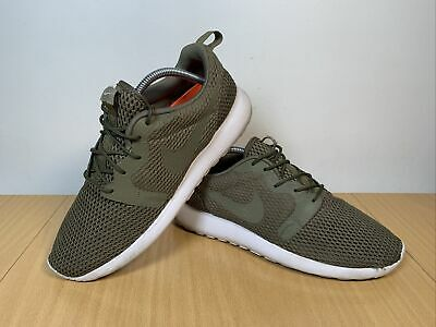 NIKE ROSHE ONE HYPERFUSE FLYKNIT OLIVE GREEN RUNNING TRAINERS SIZE UK 8...
