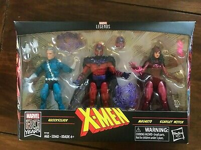 Marvel Legends Series Exclusive 6' Family Matters 3 Pack with Magneto, Quicksilv
