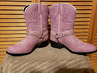 Durango Lil' Durango Big Kids Bling Harness Western Cowgirl Boots - Childs Cowgirl Boots