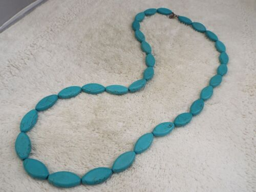 Blue Howlite Turquoise Stone Necklace (D23)