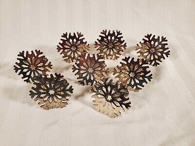 Snowflake Napkin Rings ((8) Silver Snowflake Napkin)