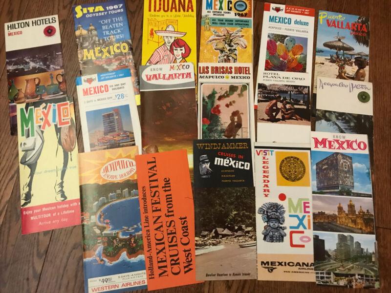 Vintage 60's Mexico Travel Tourist Brochure Ephemera