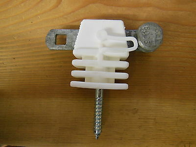 Gallagher Electric Fence Tape Gate Anchor Insulator W Anchor Plate New