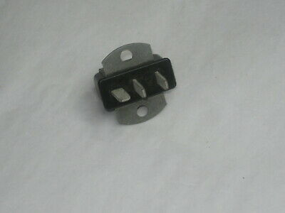 Nos Cinch Jones 3 Pin Plug Male Connector Socket - Chassis Mount