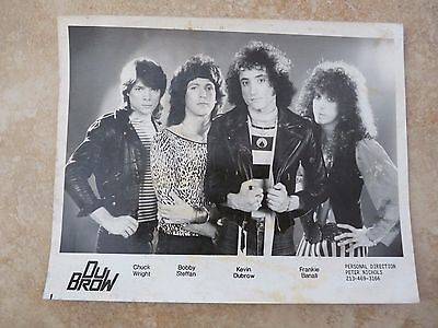 DuBROW KEVIN Solo Band Quiet Riot Vintage Original 8x10 Press Kit Promo Photo