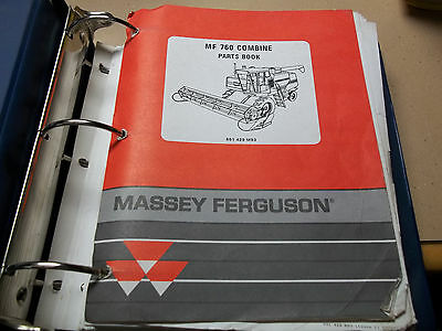 Massey Ferguson Mf 760 Combine Parts Book Catalog Manual