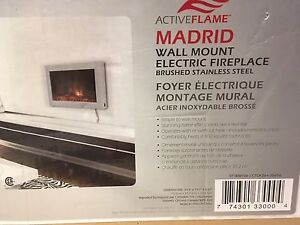 Brand New Madrid Wall Mounted Electric Fireplace