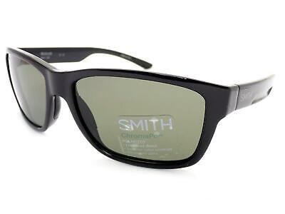 Smith Sonnenbrille Wolcott Polarisiert Glänzend Schwarz / Chromapop Linsen D28