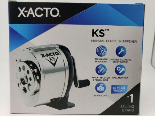 X-ACTO KS Wall Mount Pencil Sharpener Commercial Grade Adjustable 8 Pencil Sizes