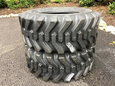 2 New 12-16.5 Skid Steer Tires - Camso Sks332 - 12x16.5 - For Bobcat Others