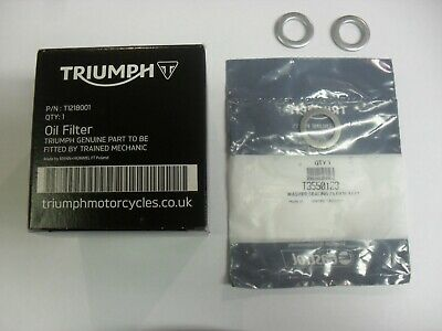 GENUINE TRIUMPH ROCKET III 3 CLASSIC TOURING OIL FILTER WITH SUMP PLU