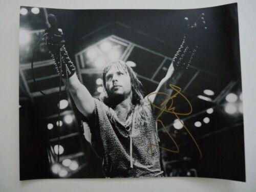 Bruce Dickinson Iron Maiden Signed Live B&W 11x14 Photo Beckett Certified #1
