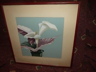Vintage late 30s original Orchid painting by Kupur/Cooper Studios #2 *Worldwide*