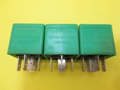 3X LAND ROVER AC FAN WIPER GREEN RELAY RANGE YWB10031 USED