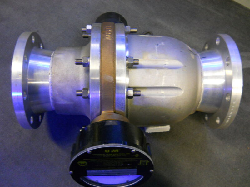 "Ufm Universal Flow Monitors Xhf-q1f800gm-48w-32v1.0-r0wd Vane Flow Meter  6"" New"