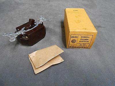 Unused Vintage Hubbell 9933 Brown Bakelite Three 3 Way Switch