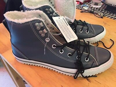 Converse Men's Chuck Taylor Rubber Rain or Hiking Boot Sneaker Fashion Blue Grey
