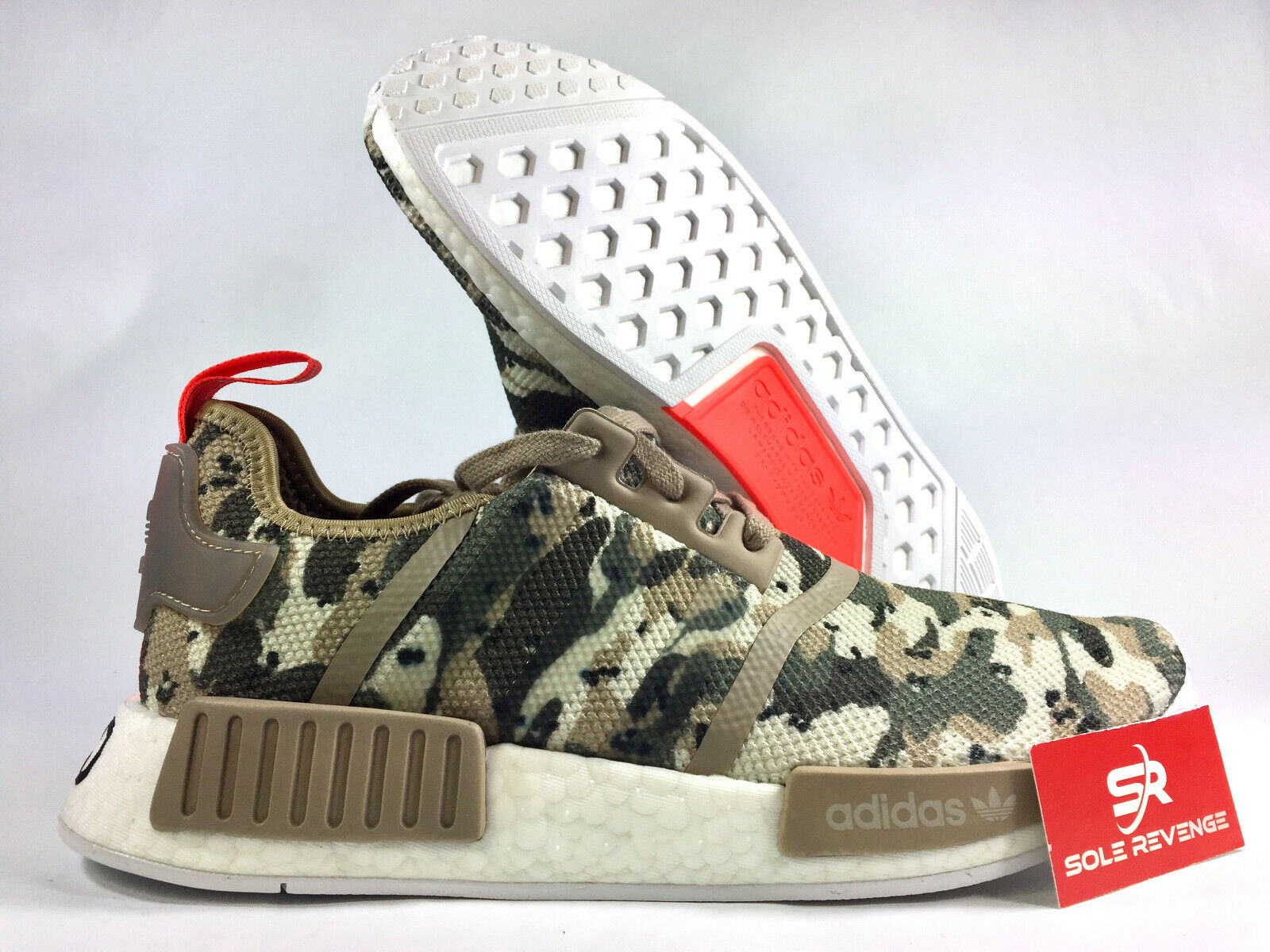 Shop adidas Originals NMD R1 Mens Running Shoes Red Red