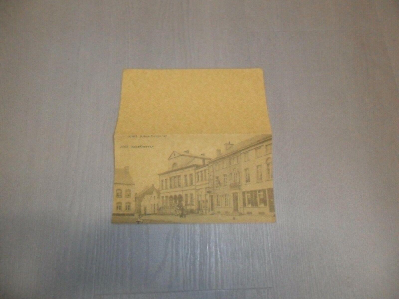Vintage : 1 grande cpa non écrite Jumet maison communale état voir photos