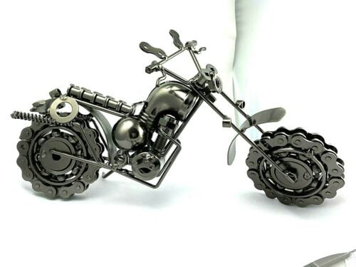 Welded Metal Handmade Motorcycle Model Collectible Scale Model Sculpture