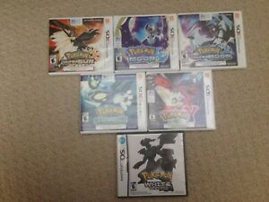 3D Pokemon/DS nintendo games and 3DS