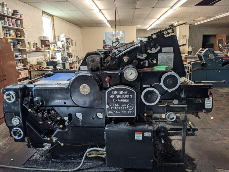 Heidelberg Kord Offset Press (serial # 328058)