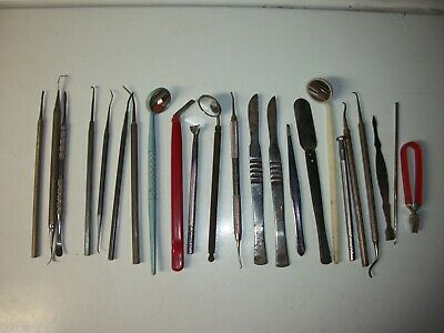 Large Lot Of Vintage Dentist Tools Hu-friedy S.s. White Clev-dent Instruments