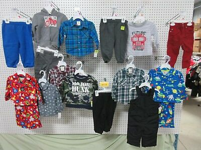 17 BABY CLOTHING 12-18 MONTH TOP OUTFIT BOYS SWEATPANTS BUTTON SHIRT SLEEPER