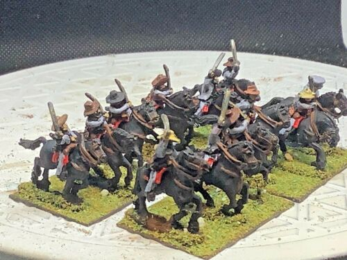 15mm Handpainted ACW Confederate Cavalry (12 Horse/ 12 Riders)