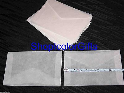 ShopIcolorGifts- 25 Brand New Glassine Envelopes Size #4 (3-1/4 x 4-7/8)