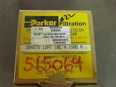 New Parker Hydraulic Filter Part 304675 12at 10c N 15bbn Wmount
