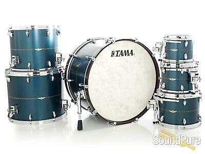 Tama 6pc Star Bubinga Drum Set-Satin Blue Metallic - Used